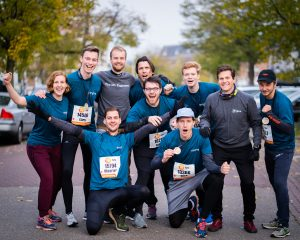 team happy after a race
